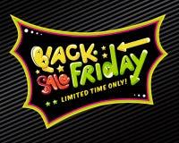 Het zwarte etiket van de vrijdagverkoop Royalty-vrije Stock Afbeelding