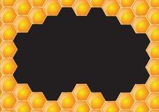 Het zwarte frame van de honingraat stock illustratie