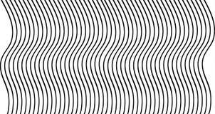 Het zwarte golvende ontwerp van de lijnentextuur op witte achtergrond Zwart-wit lijnenillustratie Royalty-vrije Stock Afbeeldingen