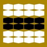 Het zwarte goud van luxemandala Stock Fotografie