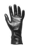 Het zwarte handschoen gesticuleren Stock Fotografie