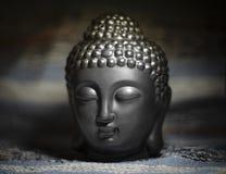 Het zwarte hoofd van Boedha Aromalamp foto royalty-vrije stock foto's