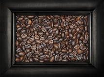 Het Zwarte Kader van de Bonen van de koffie Royalty-vrije Stock Foto