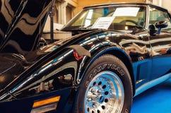 Het zwarte Korvet van Chevrolet van 1980 Stock Afbeeldingen