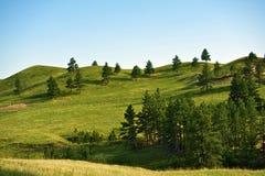 Het zwarte Landschap van Heuvels Stock Afbeeldingen