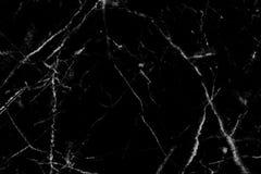 Het zwarte marmeren natuurlijke patroon voor achtergrond, vat natuurlijke ma samen Stock Afbeelding