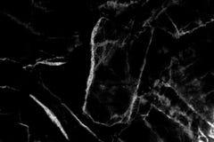 Het zwarte marmeren natuurlijke patroon voor achtergrond, vat natuurlijke ma samen Royalty-vrije Stock Afbeelding