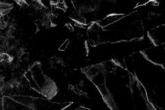 Het zwarte marmeren natuurlijke patroon voor achtergrond, vat natuurlijke ma samen Royalty-vrije Stock Afbeeldingen