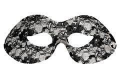 Het zwarte masker van de kantmaskerade stock afbeelding