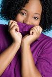 Het zwarte Meisje van de Winter royalty-vrije stock foto's
