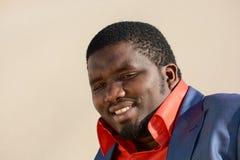 Het zwarte mens glimlachen Royalty-vrije Stock Fotografie