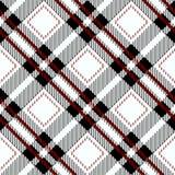 Het zwarte Naadloze Diagonale Patroon eps 10 van het Gingangtafelkleed stock illustratie