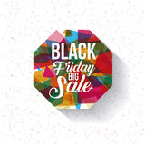 Het zwarte ontwerp van de vrijdagverkoop Stock Foto