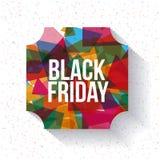 Het zwarte ontwerp van de vrijdagverkoop Stock Afbeelding
