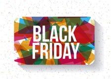 Het zwarte ontwerp van de vrijdagverkoop Royalty-vrije Stock Foto