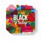Het zwarte ontwerp van de vrijdagverkoop Stock Foto's