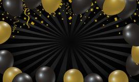 Het zwarte ontwerp van de vrijdagverkoop van ballonachtergrond Royalty-vrije Stock Afbeeldingen