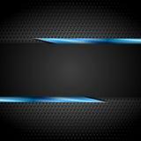 Het zwarte ontwerp van technologie met geperforeerde metaaltextuur Royalty-vrije Stock Afbeelding