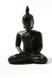 Het zwarte ornament van Boedha op wit, Thailand. Royalty-vrije Stock Afbeeldingen