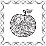 Het zwarte patroon van Apple ontour in krabbelstijl Royalty-vrije Stock Fotografie