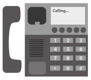 Het zwarte pictogram van de Desktoptelefoon Stock Fotografie