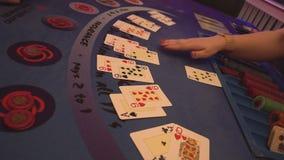Het zwarte spel van het hefboomcasino stock video