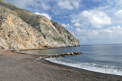 Het zwarte Strand Santorini van het Zand Royalty-vrije Stock Fotografie