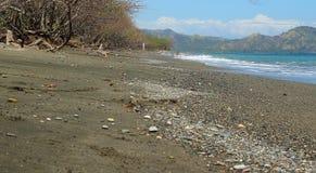 Het zwarte Strand van het Zand royalty-vrije stock afbeelding