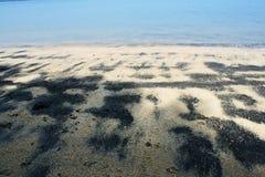 Het zwarte Strand van het Zand Royalty-vrije Stock Fotografie
