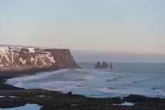 Het zwarte strand van IJsland Royalty-vrije Stock Fotografie