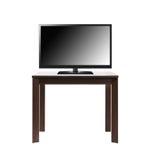 Het zwarte TV-scherm op bruine lijst Stock Afbeeldingen