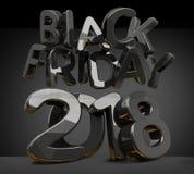 Het zwarte vrijdag 2018 3d teruggeven Stock Afbeeldingen