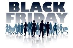 Het zwarte winkelen van de Vrijdag royalty-vrije illustratie