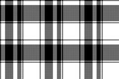 Het zwarte witte patroon van het plaid naadloze pixel royalty-vrije illustratie