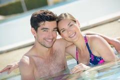In het zwembad royalty-vrije stock afbeelding