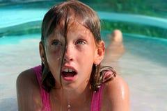 In het zwembad Stock Fotografie