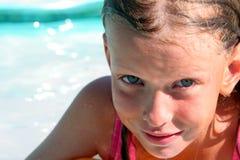 In het zwembad Royalty-vrije Stock Afbeeldingen