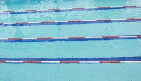 Zwembad het concurreren Royalty-vrije Stock Foto