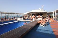 Het zwembad van de cruise Stock Afbeelding