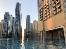 Het zwembad van het de Jachthavendak van Doubai royalty-vrije stock fotografie