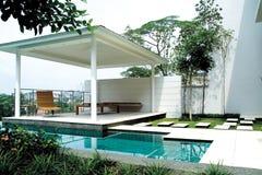Het zwembad van de villa Royalty-vrije Stock Fotografie