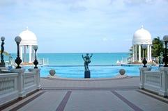 Het Zwembad van het paleis stock fotografie