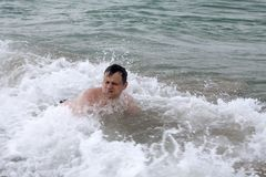 Het zwemmen Royalty-vrije Stock Foto's