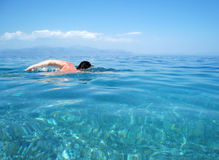 Het zwemmen Stock Afbeelding