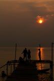 Het zwemmen bij eiland Kood in Thailand Stock Foto