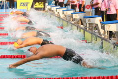 Het zwemmen: Chonburigame Thailand Stock Afbeelding