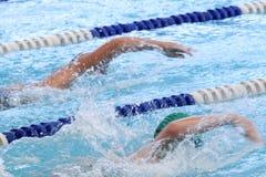 Het zwemmen Concurrentie Stock Afbeelding