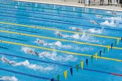 Het zwemmen de concurrentie Royalty-vrije Stock Foto's