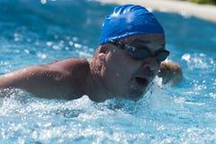 Het zwemmen in de pool Royalty-vrije Stock Afbeeldingen