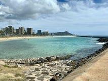 Het zwemmen in een Waikiki Paradise royalty-vrije stock foto's